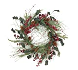 Melrose Mix Pine Wreath with Berry and Pod, 23-Inch