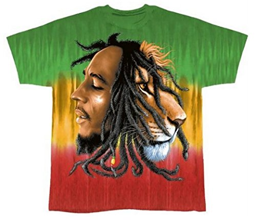 Bob Marley Profiles Multi-Colored T-Shirt - Tie Dye (XX-Large) (Tie Dye Shirt Marley compare prices)