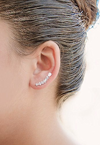 EVER-FAITH-Womens-925-Sterling-Silver-CZ-Sweep-Ear-Vine-Cuff-Wrap-Hook-Earrings-1-Pair
