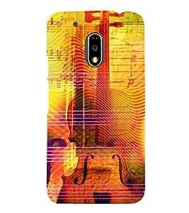 Music Strings 3D Hard Polycarbonate Designer Back Case Cover for Motorola Moto G4 Plus :: Moto G4+ :: Moto G4