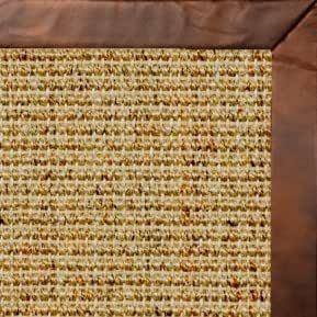 Amazon Com Spice Sisal Rug W Oak Leather Border