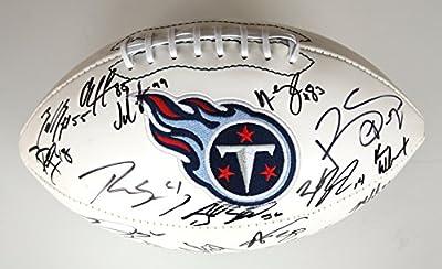 Tennessee Titans 2015 Team Signed Autographed Logo Football Marcus Mariota