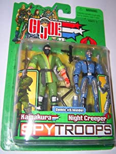 Gi Joe 2003 spy troops KAMAKURA vs COBRA NIGHT CREEPER g.i.