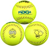 Trump® X-ROCK-ISPS-Y The Rock® Series 12 inch Softball - Yellow Composite Leather with Micro Cell Technology - ISPS Approved (Sold in Dozens)