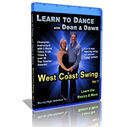 West Coast Swing Vol 1 - Learn the Basics & More (Learn to Dance with Dean and Dawn) [Blu-ray]