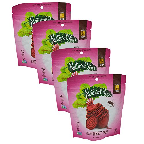 Natural Sins Baked Certified Kosher Crispy Beet Chips 1 oz 4 pack (Baked Organic Corn Tortilla Chips compare prices)