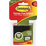 Tiras Command para colgar cuadros, paquete de 6 tiras medianas color negro