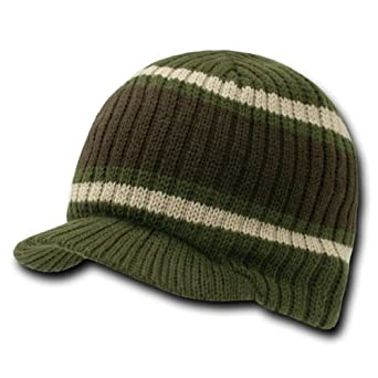 New Striped Campus Winter Jeep Cap (Comes In 3 Other Colors), Brown