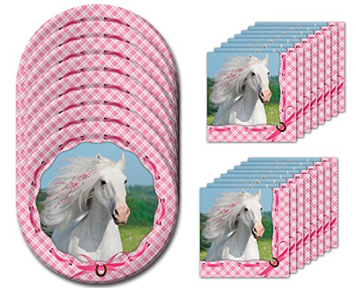Heart My Horse Dessert Napkins & Plates Party Kit for 8