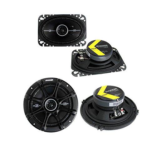 Kicker 41DSC464 4x6-Inch 120W with 2) 41DSC654 6.5-Inch 240W 2-Way Coaxial Speakers (Pair)