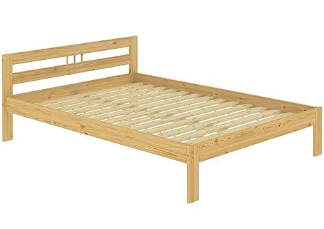 Letto/futon matrimoniale classico in Pino Eco 140x200 laccato con doghe di legno 60.64-14 FNV