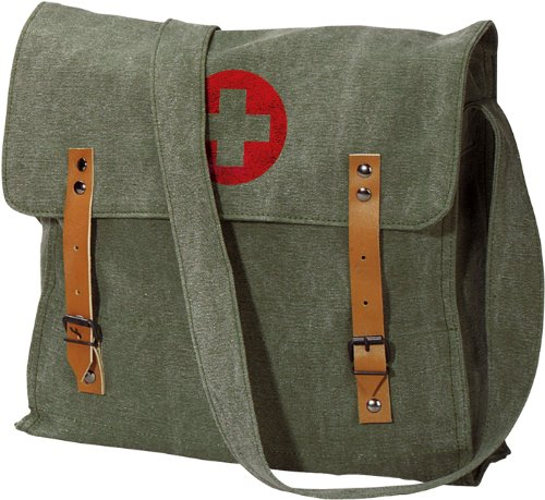 Vintage RED CROSS Medic Shoulder Bag (Sage Green Vintage)