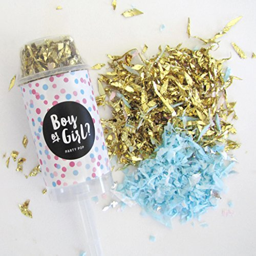 Gender Reveal Party Pop - Boy (Confetti Push Poppers compare prices)