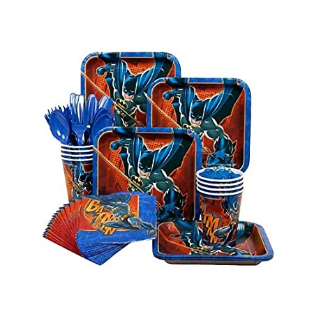 The Batman Party Standard Kit is a great way to supply your party with colorful and fun tableware items. Disposable tableware makes party set up and clean up easy and these items feature great images of Batman. You'll receive enough tableware items f...