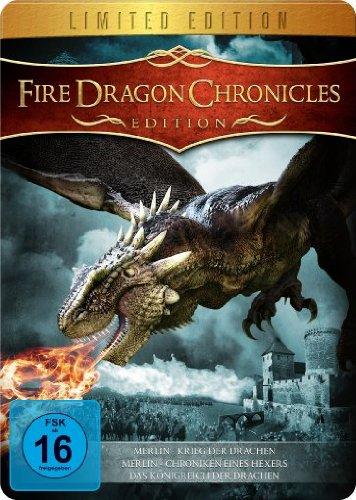 Fire Dragon Chronicles Edition (Merlin und der Krieg der Drachen, Merlin - Die Chroniken eines Hexers & Das Königreich der Drachen) - Metal-Pack [Limited Edition]