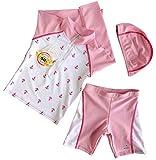 キッズ 長袖 水着 50%UVカット 日焼け止め ラッシュガード ピンク 2番