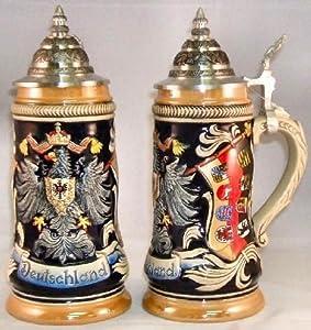 Zoeller & Born Deutschland Eagle Crest German Beer Stein by Zoller & Born