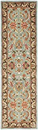 Safavieh Heritage Collection HG812B Handmade Blue and Brown Wool Runner, 2 feet 3 inches by 6 feet (2\'3\
