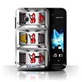 STUFF4 Phone Case Cover for Sony Xperia TipoST21 Cherries Design Slot Machine Collection
