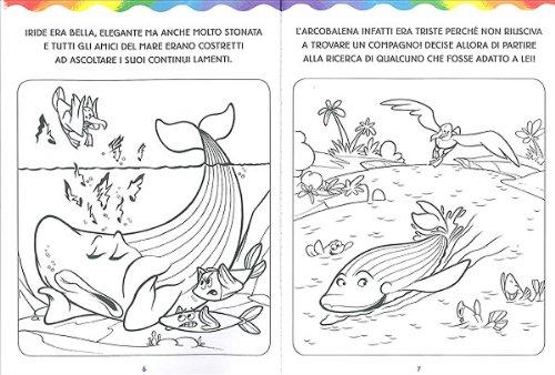 Libro l 39 arcobalena da colorare di massimo sardi for Disegni pesciolino arcobaleno