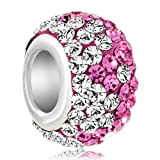Silver Plated Birthstone Bead Fit Pandora Charms