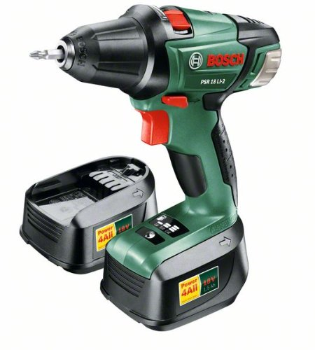 Bosch - Perceuse visseuse sans fil - PSR 18 LI-2 - 18V - 2 vitesses - Lithium-ion (2 batteries) - 0603973301