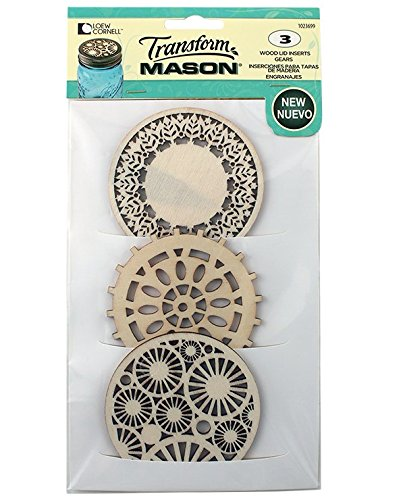 Loew Cornell 1023699 Transform Mason Gears Design Wooden Lid Insert (Transform Mason Ball Lid Inserts compare prices)