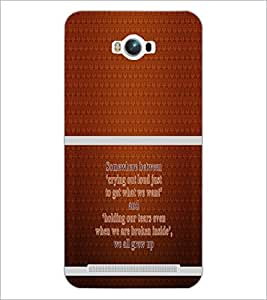 PrintDhaba Quote D-1322 Back Case Cover for ASUS ZENFONE MAX ZC550KL (2016) (Multi-Coloured)