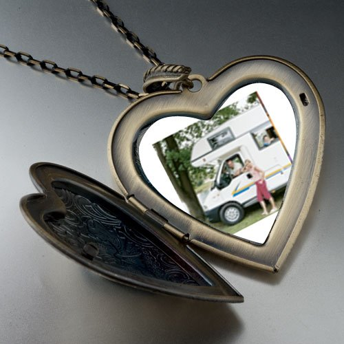 Motor Home Vacation Large Pendant Necklace