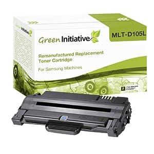 Green Initiative Remanufactured High Yield Black Laser Toner Cartridge for Samsung MLT-D105L