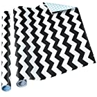 Home-it Decorative Contact Paper Self Adhesive Shelf Liner - Black Chevron Design 2 Pack 18x6 patterned contact paper