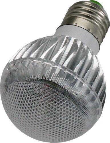 Smartfox 5W RGB LED Glühbirne Lampe E27 multicolor (farbwechsel) dimmbar inkl. Infrarot-Fernbedienung - silber