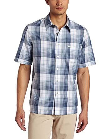 calvin klein jeans men 39 s focused plaid shirt white small. Black Bedroom Furniture Sets. Home Design Ideas