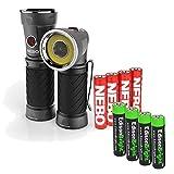 Nebo Cryket worklight/flashlight 6437 with 4 X EdisonBright AAA alkaline batteries bundle