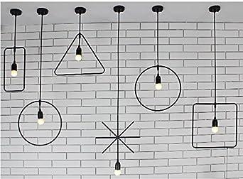 Luckyfree Plancha de Artes Industriales de arte sencillas Loft Dormitorio de luz colgantes tienda de ropa Bar Cafetería Restaurante Cocina Pasillo apliques de Luz Lámpara de techo lámpara de araña,solo 6 conjuntos de cabeza