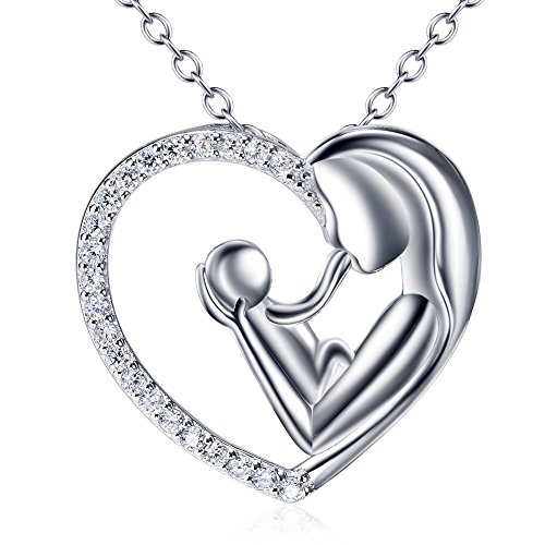 yfn-sterling-silver-mothers-love-diamond-heart-pendant-necklace-18-heart-necklace