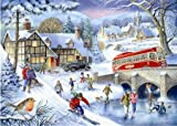 1000 Piece DeLuxe Jigsaw Puzzle - Winter Games In The Snow