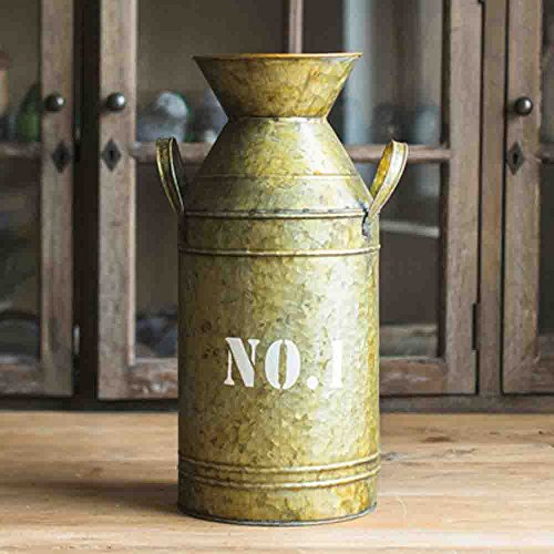 Watering Honey Galvanized Old Milk Can Country Rustic Primitive Jug Vase ~17.5 Inch 5
