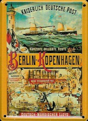imperiale-deutsche-post-mini-targa-in-lamiera-cartolina-8-x-11-cm-nostalgia-retro-scudo-metal-tin-si