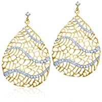 [アレックス・ウー] Alex Woo Alex Woo Narissa Diamond and 14k Yellow Gold Pave Earrings ピアス 【並行輸入品】