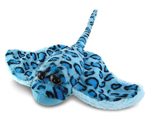 "Puzzled Super Soft Sting Ray Plush, 15"", Blue"