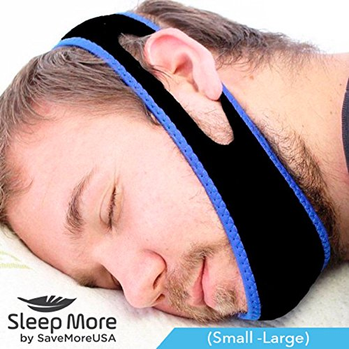 sleep-apnea-snoring-stop-snoring-mouthpiece-chin-strap-adjustable-anti-snore-solution-jaw-strap-smal