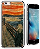 Luxendary The Scream Public Domain Picture Ultra Slim Clear Case with Crome Finish for iPhone 6/6S