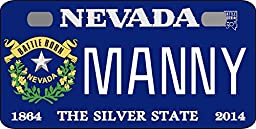 Personalized Nevada Battle Bicycle Replica License Plate any name