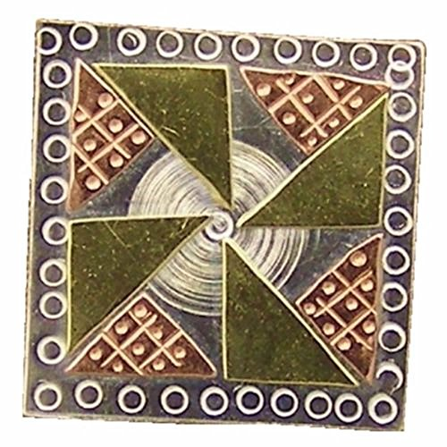 Pinwheel Quilt Block Needle Nanny Magnetic Needle Minder, Brooch