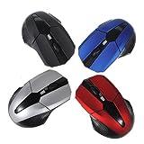 Well-Goal 3D USB 2.0 Wireless Optical 2.4GHz Mouse Mice 1600-2000DPI For HP Sony Macbook(Color Random)