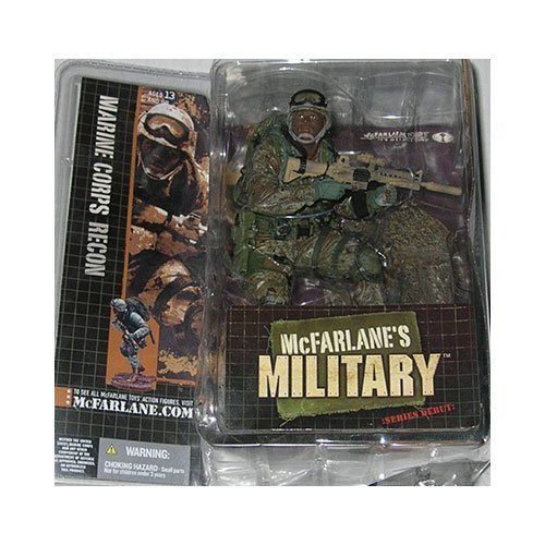 McFarlanes Military Series 1 Marine Corps Recon (African American) Action Figure by McFarlanes Military