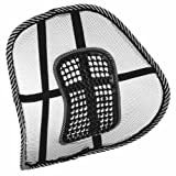 Rheme Super Comfort Mesh Lumbar Back Seat Sit Tight Support System Pain Relief for Office Chair Seat etc with Elasticated Positioning Strap and Mesh Grill