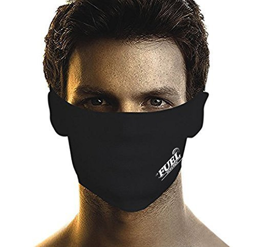 FUEL Pollution Face Mask (Valcro) For Bikers/Cyclist XXL Size- Black (Set Of 3)