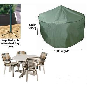 housse pour salon de jardin rond 188cm gamme confort. Black Bedroom Furniture Sets. Home Design Ideas